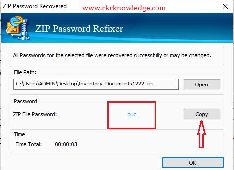 Copy password