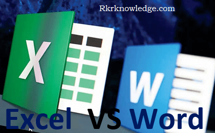 Difference between MS Excel and MS Word