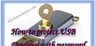 How to protect pendrive with password