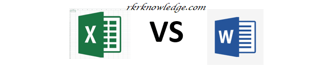Diffrence between ms word and excel.