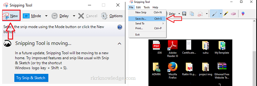 Click on the new option