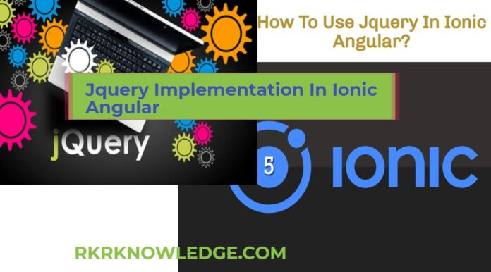How To Use Jquery In Ionic Angular?